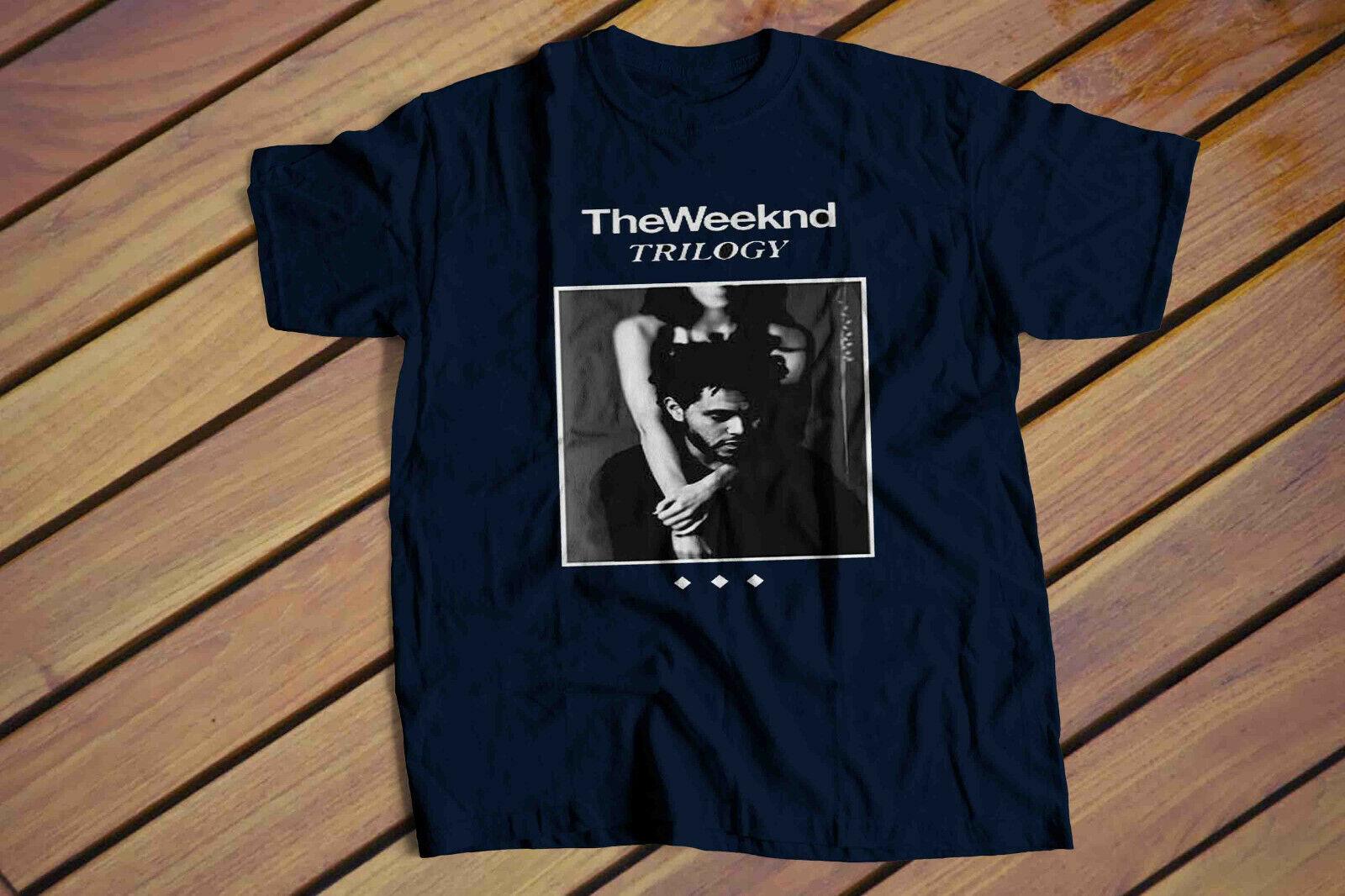 New The Weeknd Trilogy Music Men/'s White T-Shirt Size S M L XL 2XL 3XL