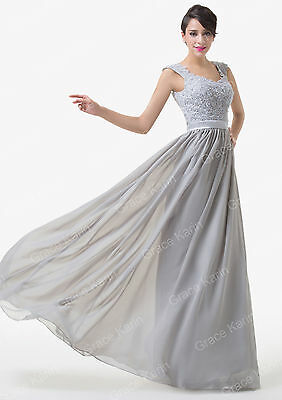 Long Chiffon Lady Formal Party WEDDING Prom Evening Gown Bridesmaid Bridal Dress