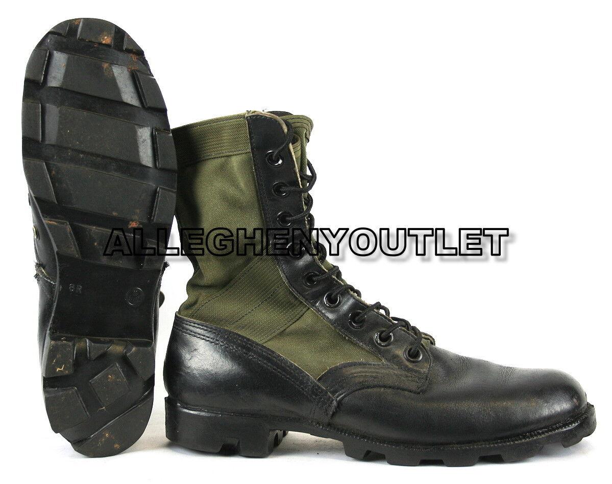 USGI Military Vietnam JUNGLE COMBAT BOOTS Spike Protective OD Green 5.5-11 MINT