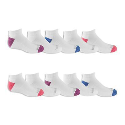 Fruit of the Loom Girls Low Cut Sock 10 Pair