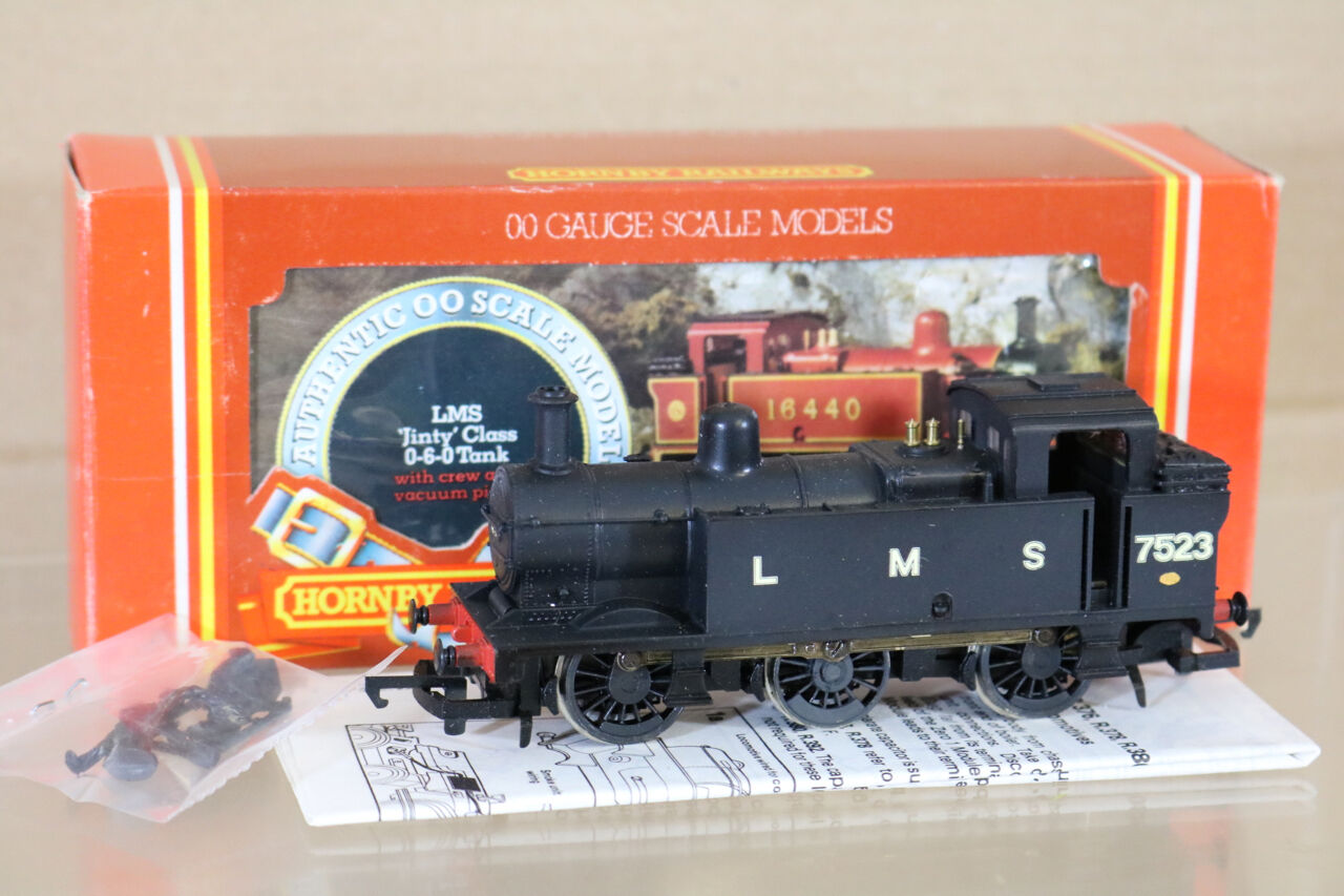 Hornby R301 Reacabados Lms Negro 0-6-0 Clase 3F Jinty Tank Loco 7523Nf