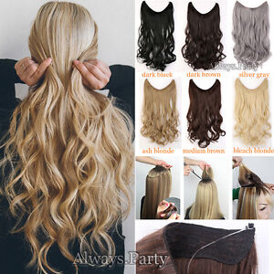 US Headband Secret Wire In Hair Extensions Invisible Curly Straight ...