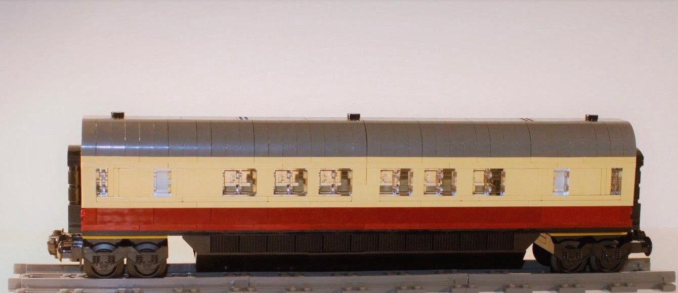 Custom autoconstruction MOC de LEGO ® ® ® Personnes CompartiHommes t Wagon Voiture IC Ice thé chemin de fer dd586b