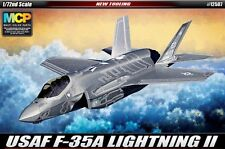 Academy 1/72 Plastic Model Kit USAF F-35A LIGHTNING II #12507