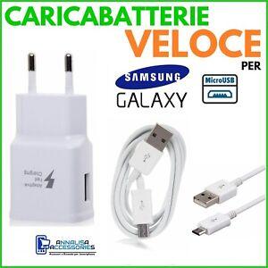 CARICABATTERIE-VELOCE-FAST-per-SAMSUNG-GALAXY-A7-2018-PRESA-CAVO-MICRO-USB