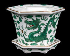 China 20. Jh.  Blumentopf - A Chinese 'Green Dragon' Jardiniere - Chinois Cinese