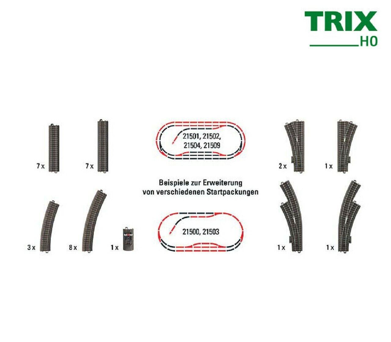 Trix 62900 vía complemento para paquete de inicio (31 piezas) + + nuevo en OVP