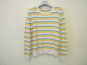 Chinti And Parker Striped Cotton Women's Sweater