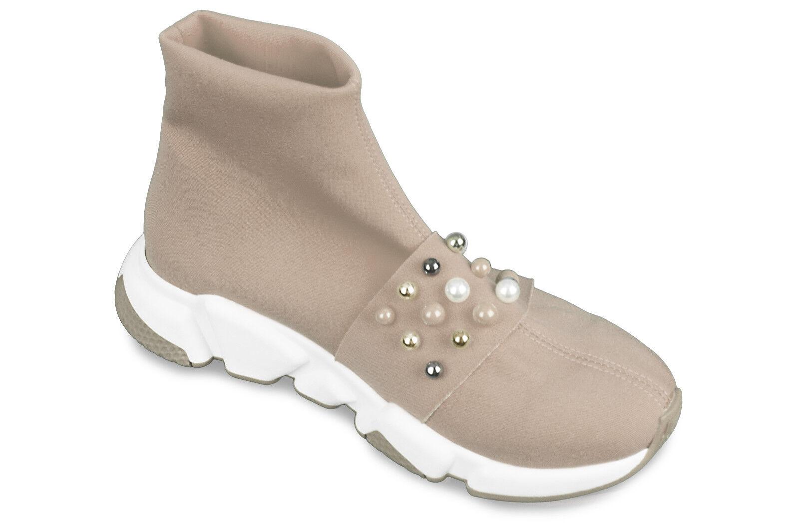 Calze da Donna Scarpe scarpe da ginnastica Scarpe colonia Plateau Plateau Plateau Scarpe beige perle 938304