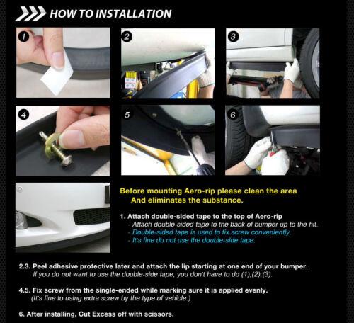 8.5 Feet Front Bumper Spoiler Chin Lip Splitter Valence Trim Body Kit for SCION
