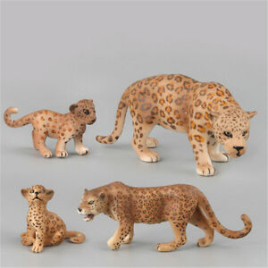 Plastic Zoo Animal Figure Leopard Toy Lovely Animal Gift Toys For
