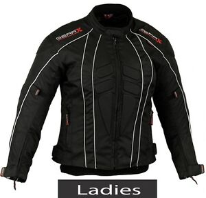noir femmes moto veste moto motard protection rev tement imperm able ebay. Black Bedroom Furniture Sets. Home Design Ideas