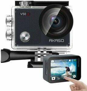 AKASO V50X Native 4K30fps 20MP WiFi Action Camera with EIS Touch Screen, 4X Zoom