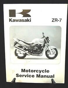 1999 00 Kawasaki Zr 7 Motorcycle Service Manual 99924 1248 01 Ebay