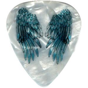 Angel-Tattoo-Wings-Beautiful-Pick-Turquoise-Spiritual-Medium-Pearl-Guitar-Picks