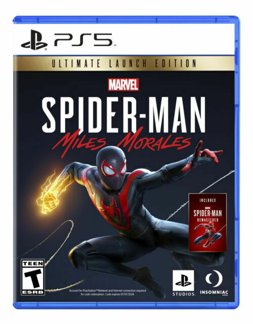 🎮 PS5 Spiderman Miles Morales Launch Edition For Sony Playstation 5 Spider-Man