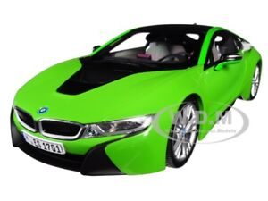 Details about BMW i8 JAVA GREEN WITH BLACK TOP 1/18 DIECAST MODEL CAR BY  PARAGON 97086