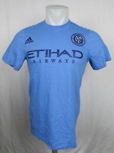 NYC Football Club adidas Men's Blue S/S Etihad Airways T-Shirt MLS ...