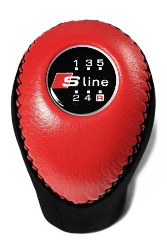 Audi S-Line 5 Speed Red Shift Knob A6 C4 C5 A3 8L V8 B4 A8 D2 B2 B3 A4 B5