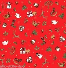 Christmas 2016 Rot Patchworkstoffe Stoffe Weihnachten Patchwork Weihnachtsstoffe