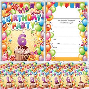 Image Is Loading Childrens Birthday Party Invites 1st 2nd 3rd 4th