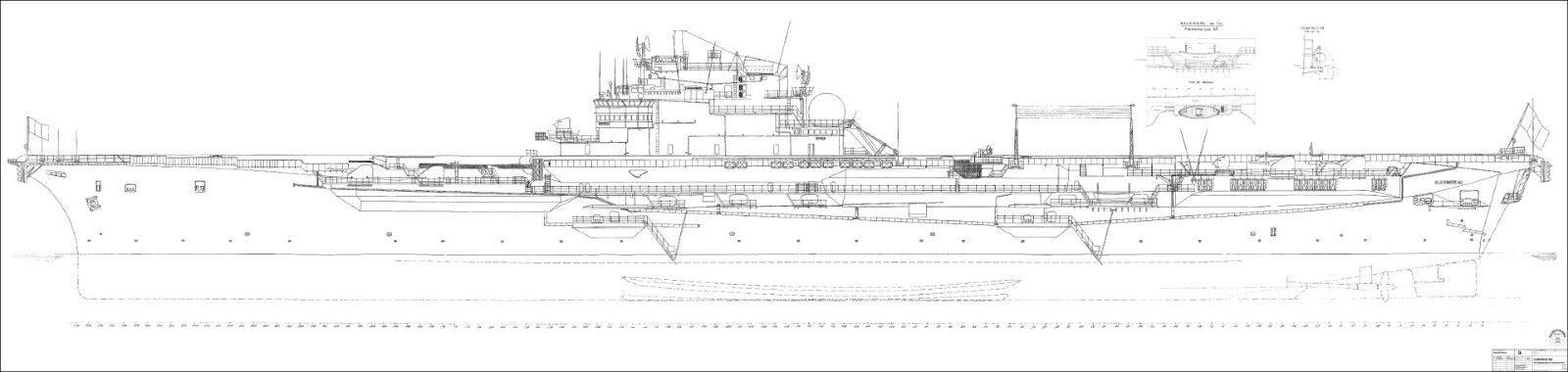 CleHommes ceau, porte-avions M M M 1/72. après chantier naval dessins stand 1961 plan de bâtiHommes t rc fbd0a9
