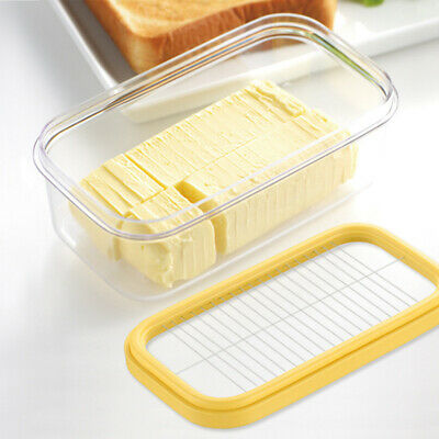 Butter Holder Storage Box Cheese Kitchen Fridge Fresh Keeper with Cutting Mesh