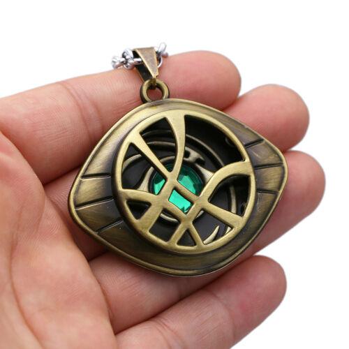 film Dr NOUS Strange Oeil d/'Agamotto métal collier pendentif Cosplay Prop cadeau
