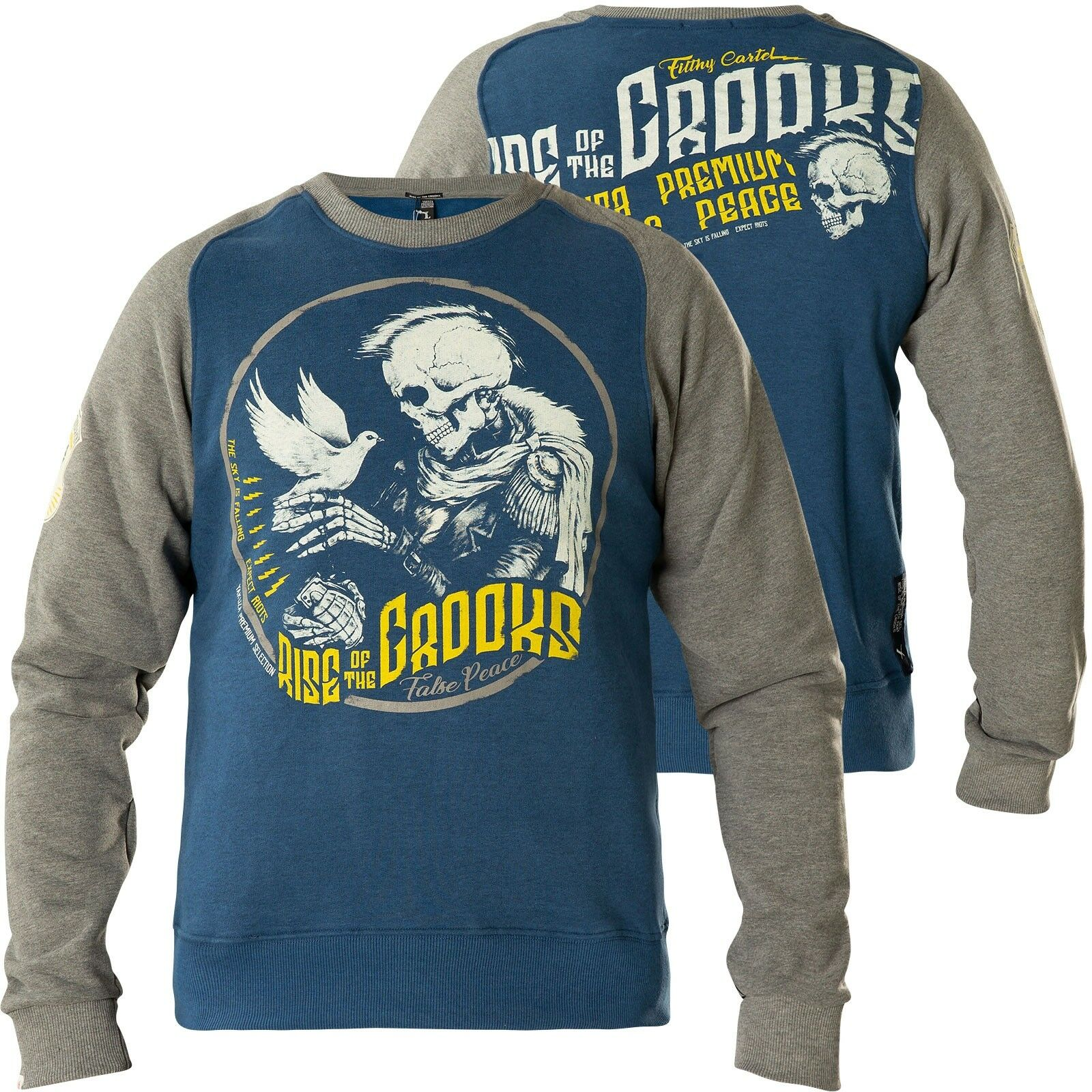 YAKUZA PREMIUM Sweatshirt YPH-2523 Blau/Grau Sweatshirts