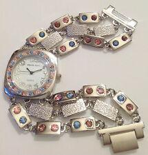 montre femme bijoux couleur argent brillant cristaux pastel quartz 316