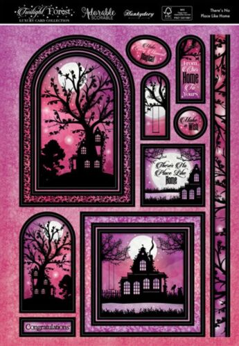 Hunkydory TWILIGHT FOREST Luxury Topper Set ~ THERE/'S NO PLACE LIKE HOME