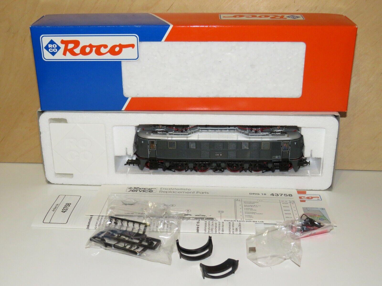 H0 Roco 43758 DSS Elektrolok BR 18 39 der DRG  Neuwertig  OVP    3513