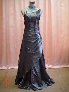 Cherlone Grey Ballgown Bridesmaid Formal Wedding/Evening Full Length Dress 8