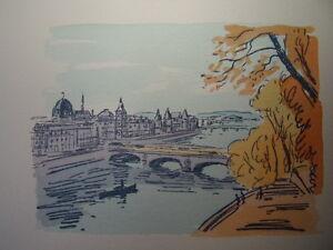 Alerte 66/ Aquarelle Paris / Pont Au Change Parfait Dans L'ExéCution
