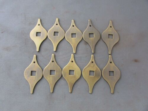 "VTG Brass Finish Back Plate Escutcheon 2/"" x 1/"" 10 Lot of"