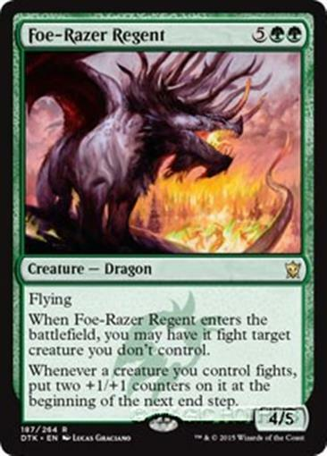 FOE-RAZER REGENT Dragons of Tarkir MTG Green Creature ?Dragon Rare