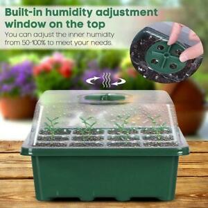 12-Hole-Plant-Seed-Grow-Box-Nursery-Seedling-Starter-Garden-Yard-Germination-new
