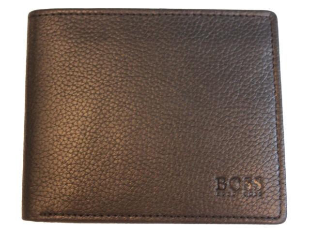 0884d0e950c Hugo Boss Bardio Men Black Soft Grain Leather.Card Holder Wallet Gift  Designer