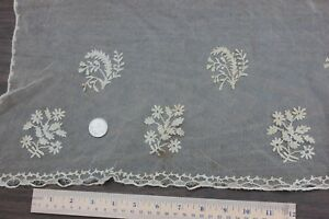 Wonderful French Antique Early 19thc Hand Applique On Net Lace~dolls,bridal Reliable Performance Linens & Textiles (pre-1930)