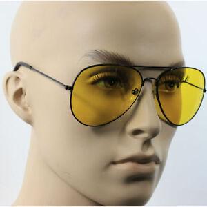 504acdb1ab86 Sunglasses Men s Accessories SPORT WRAP HD NIGHT DRIVING PILOT SUNGLASSES  YELLOW HIGH DEFINITION GLASSES