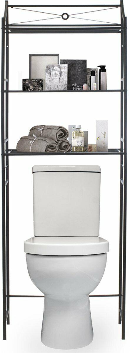 Sorbus Bathroom Storage Shelf Over, Black Bathroom Space Saver