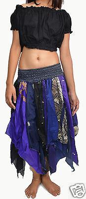 5 pcs Tribal Diamond Cut style women skirts Pack