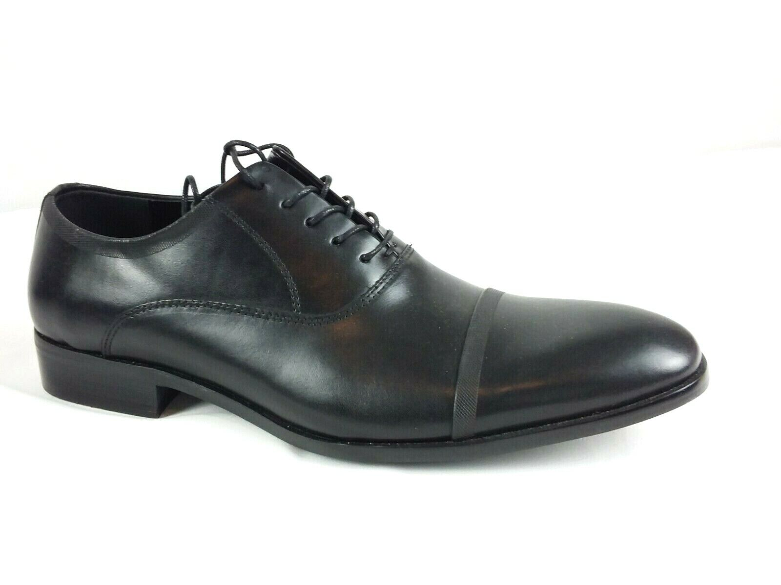 Kenneth Cole New York Men's Black Leather Classic Dress Shoes Size 10 M