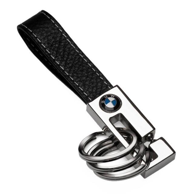 bmw oem leather 3 key ring 80232209854 ebay
