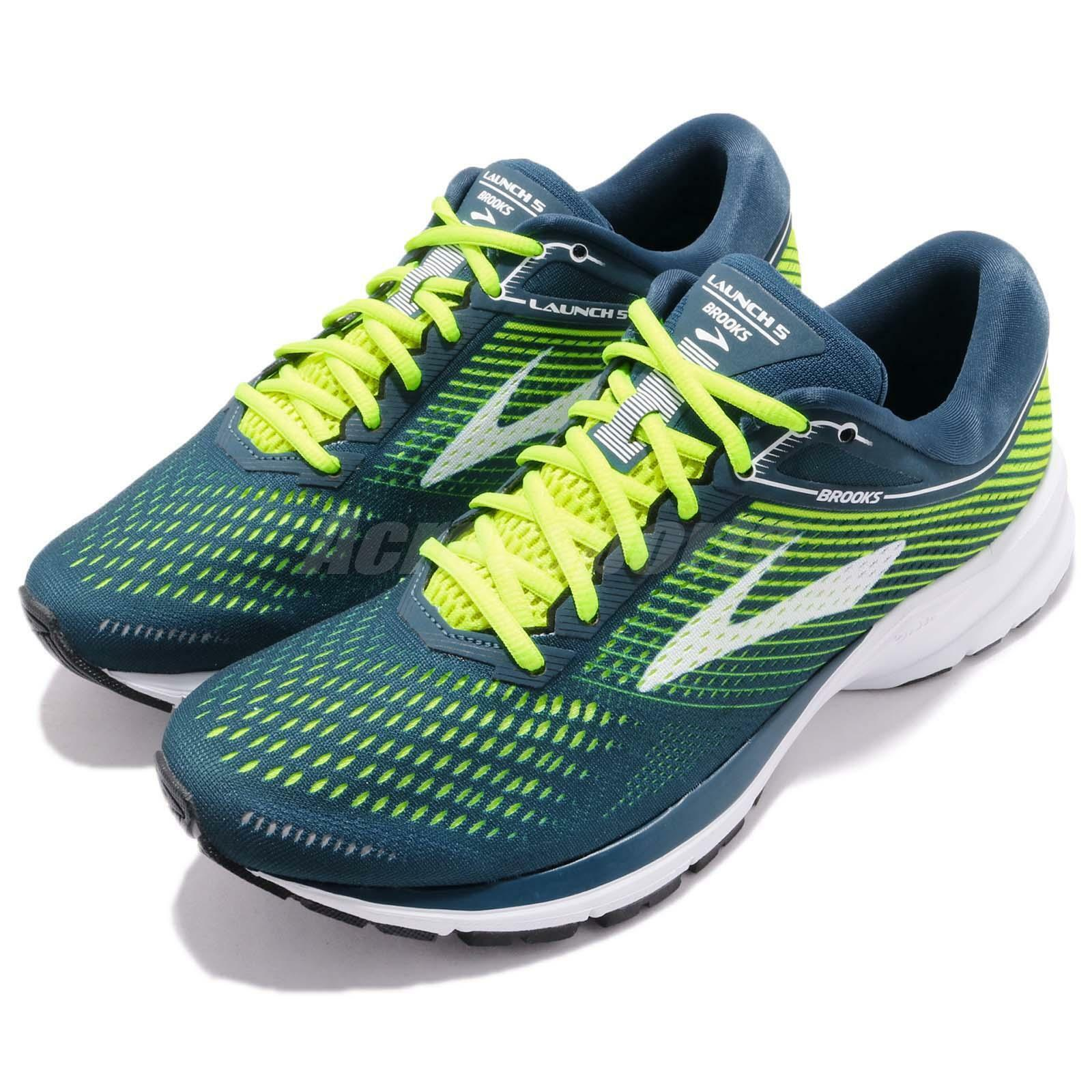 Brooks Launch 5 V Blue verde bianca Uomo Marathon Running Shoes Scarpe da Ginnastica 110278 1D