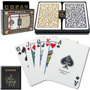 Copag 1546 Plastic Playing Cards Bridge Size Regular Index Black//Gold