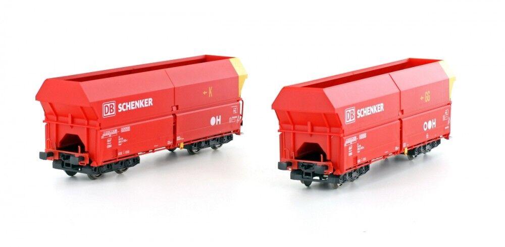 Mehano-h0-dc - 58869 stesso SCARICO Wagenset 2tlg Falns 121 DB-Schenker ep6 ROSSO