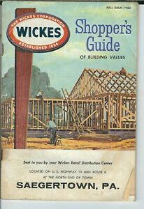 MB-032 PA, Saegertown Wickes Shopper's Guide Building Products Fall 1962 catalog