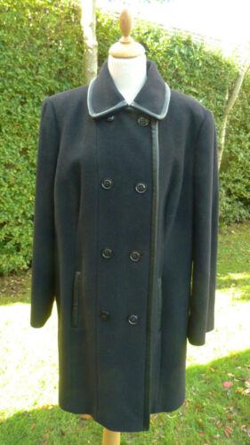 Double Størrelse Mix Wool Windsmoor Cashmere Breasted 4 3 Black Længde bfsbr 18 Coat ZqqFT0px
