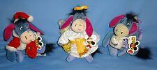 DISNEY EEYORE-SANTA-CHOIR ANGEL-SUGAR PLUM FAIRY Beanbag Plush-NWT-CHRISTMAS LOT
